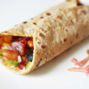 Red kidney bean (Rajma) burritos