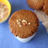 Eggless Whole Wheat Almond Cookies