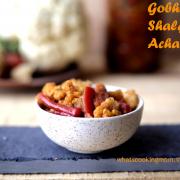 gobhi gajar shalgam achar | mix vegetable pickle