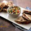 Bean Quesadilla | vegetarian rajma quesadilla