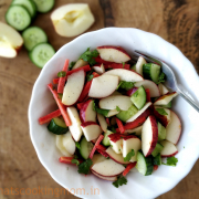 Apple Carrot Cucumber salad