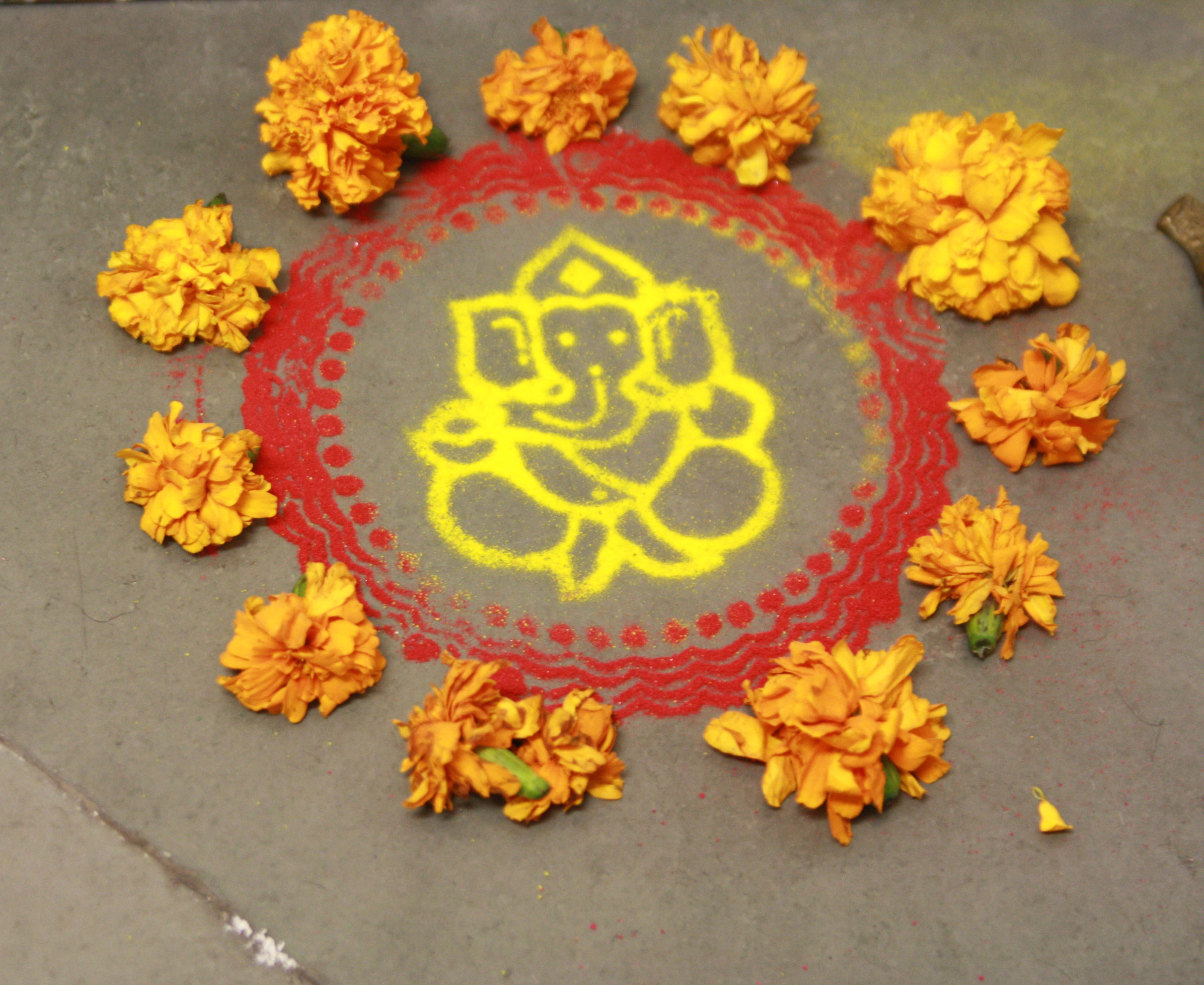 happy diwali diya decoration rangoli