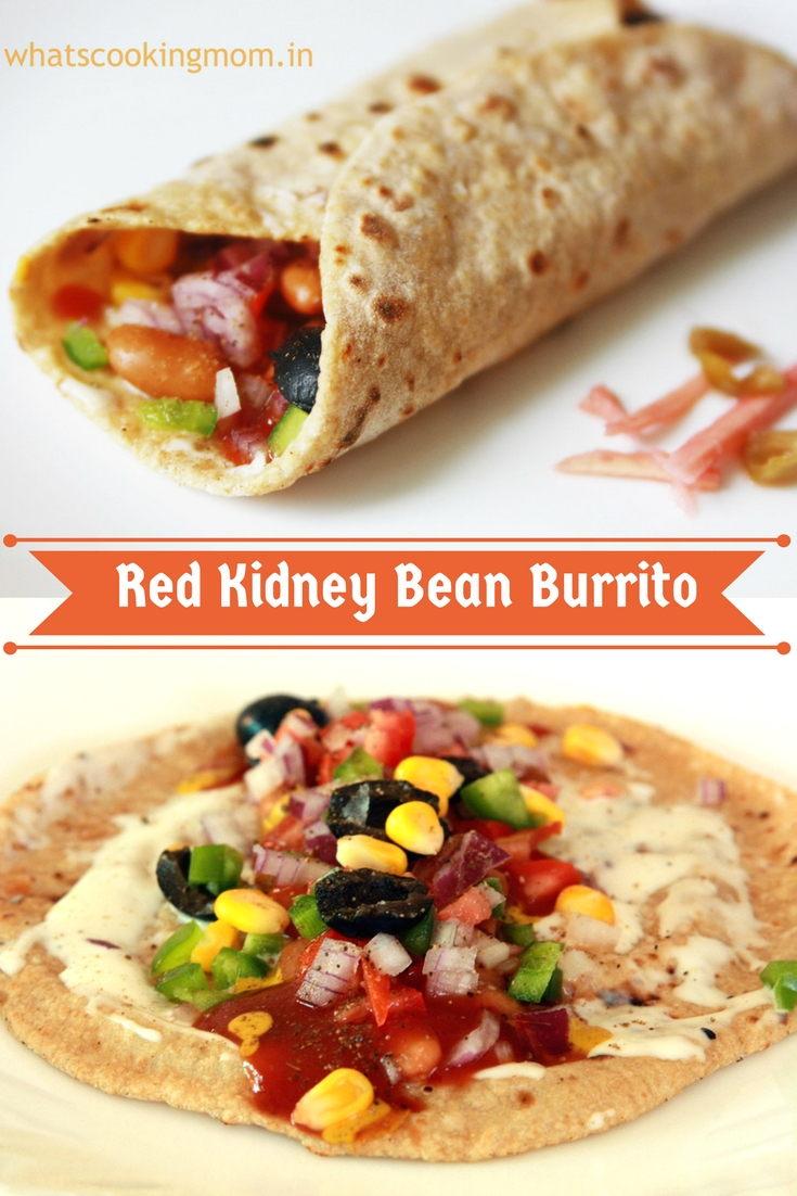 red kidney bean burrito - rajma wrap, breakfast, vegetarian, healthy, quick and easy, snack, light meal