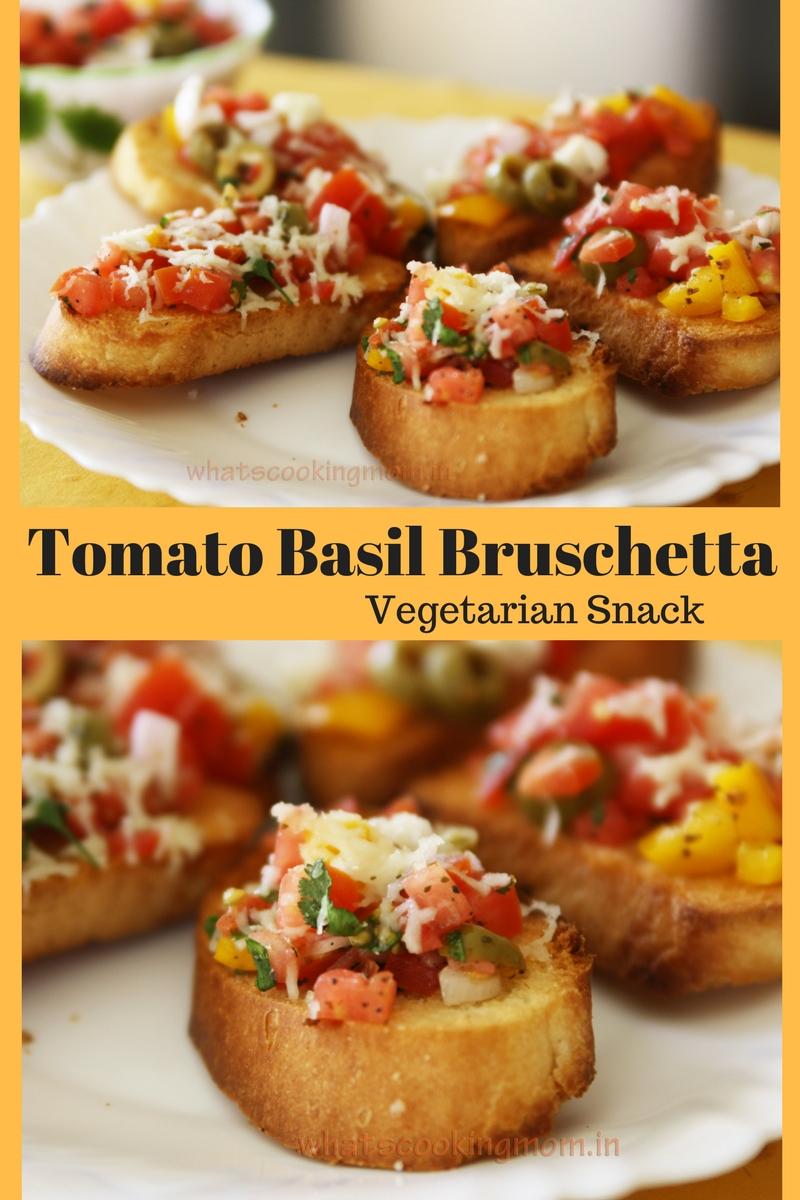 Tomato Basil Bruschetta - #vegetarian #appetizer #easytomake