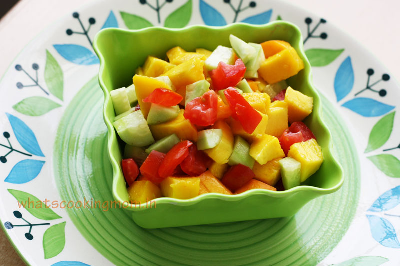 Mango Salad Sweet Tangy Fruity Healthy Summer Salad