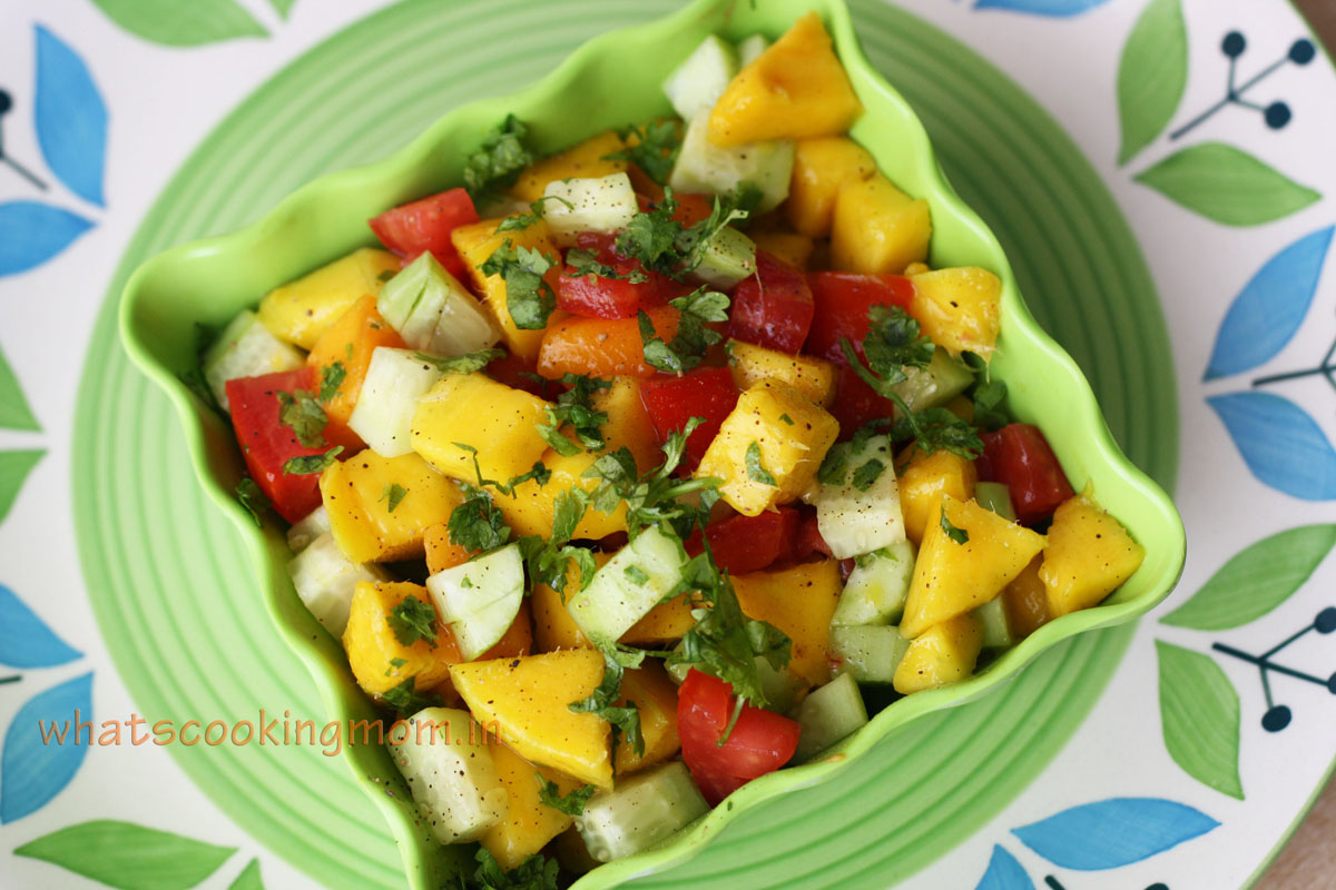 Mango salad - sweet, tangy, fruity, healthy, summer salad