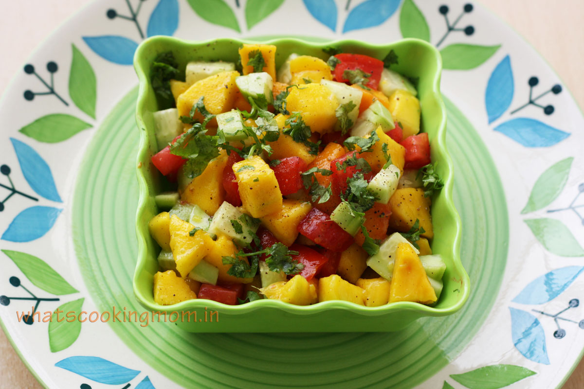 Sweet and sour mango salad