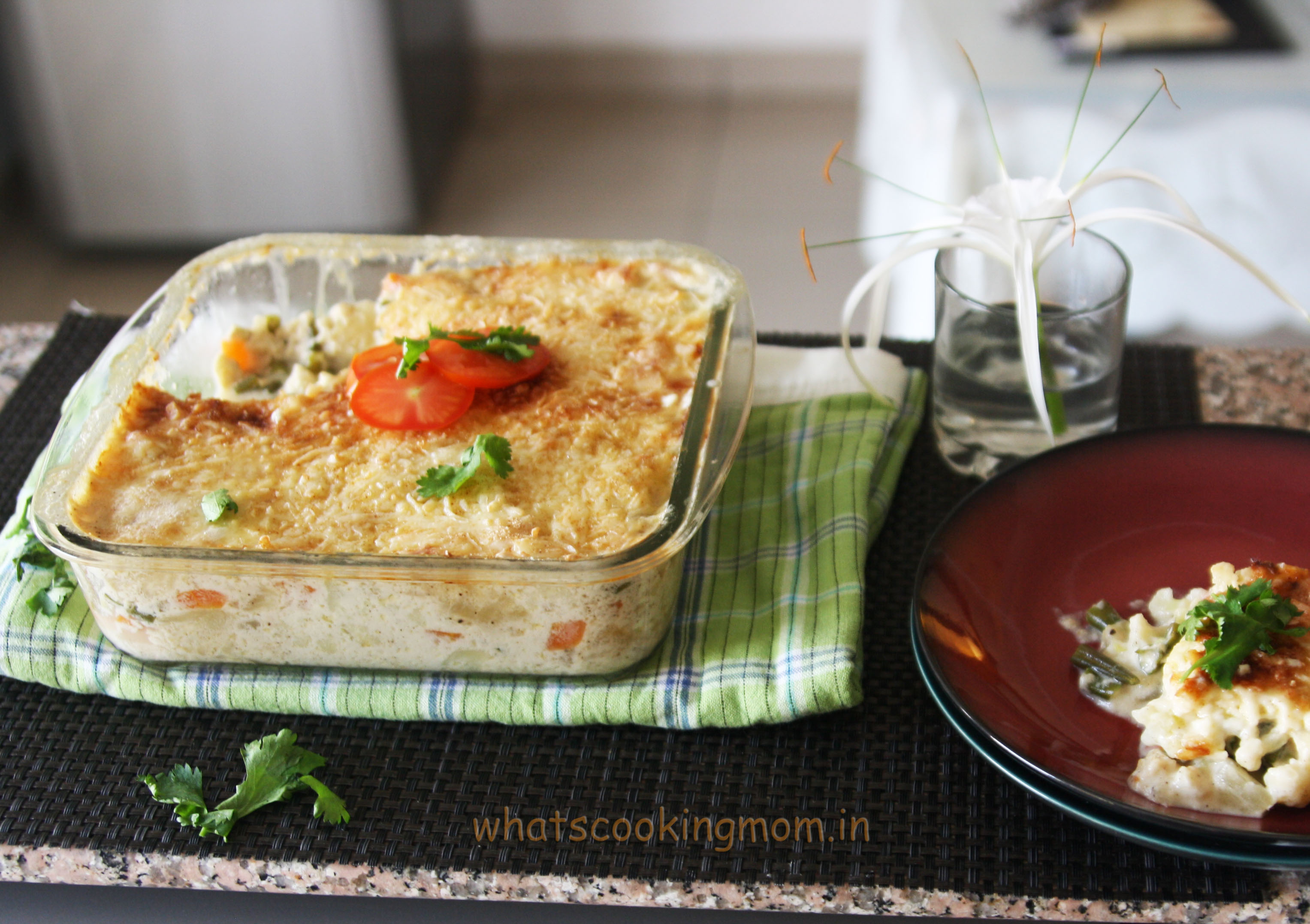 Vegetable au Gratin | whatscookingmom.inwhatscookingmom.in