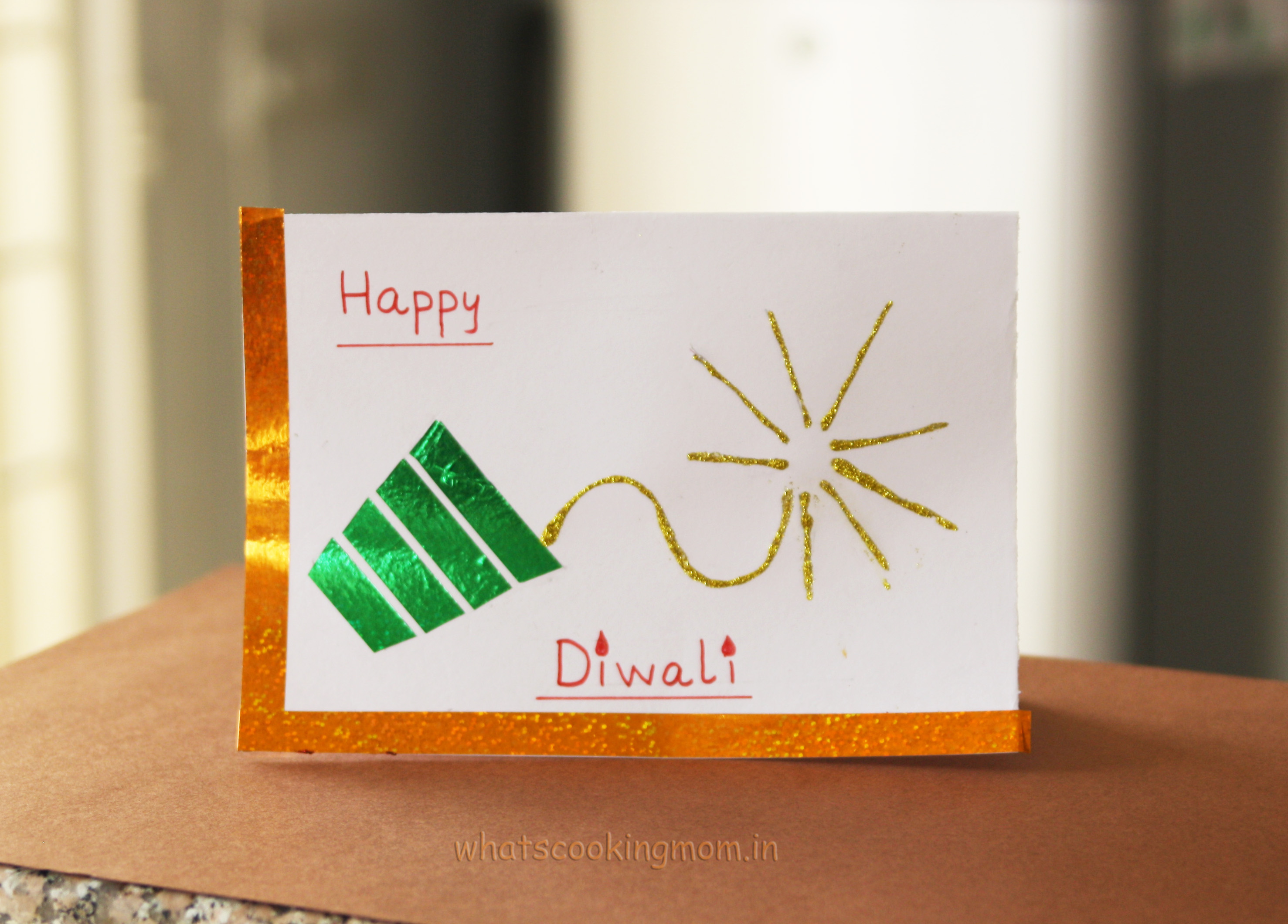 Handmade Cards For Diwali Whats Cooking Mom