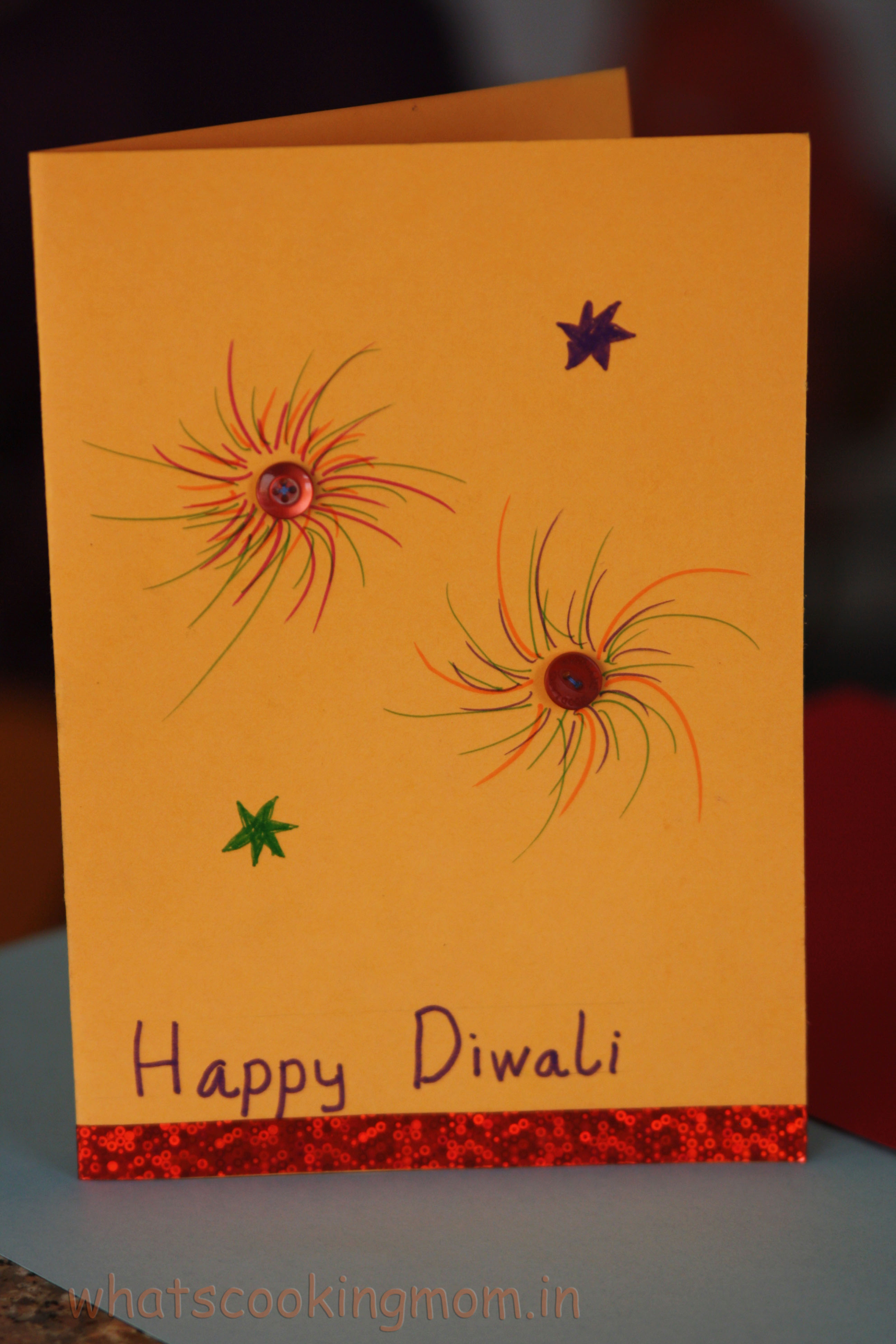 Diwali Greeting Card Making For Kids