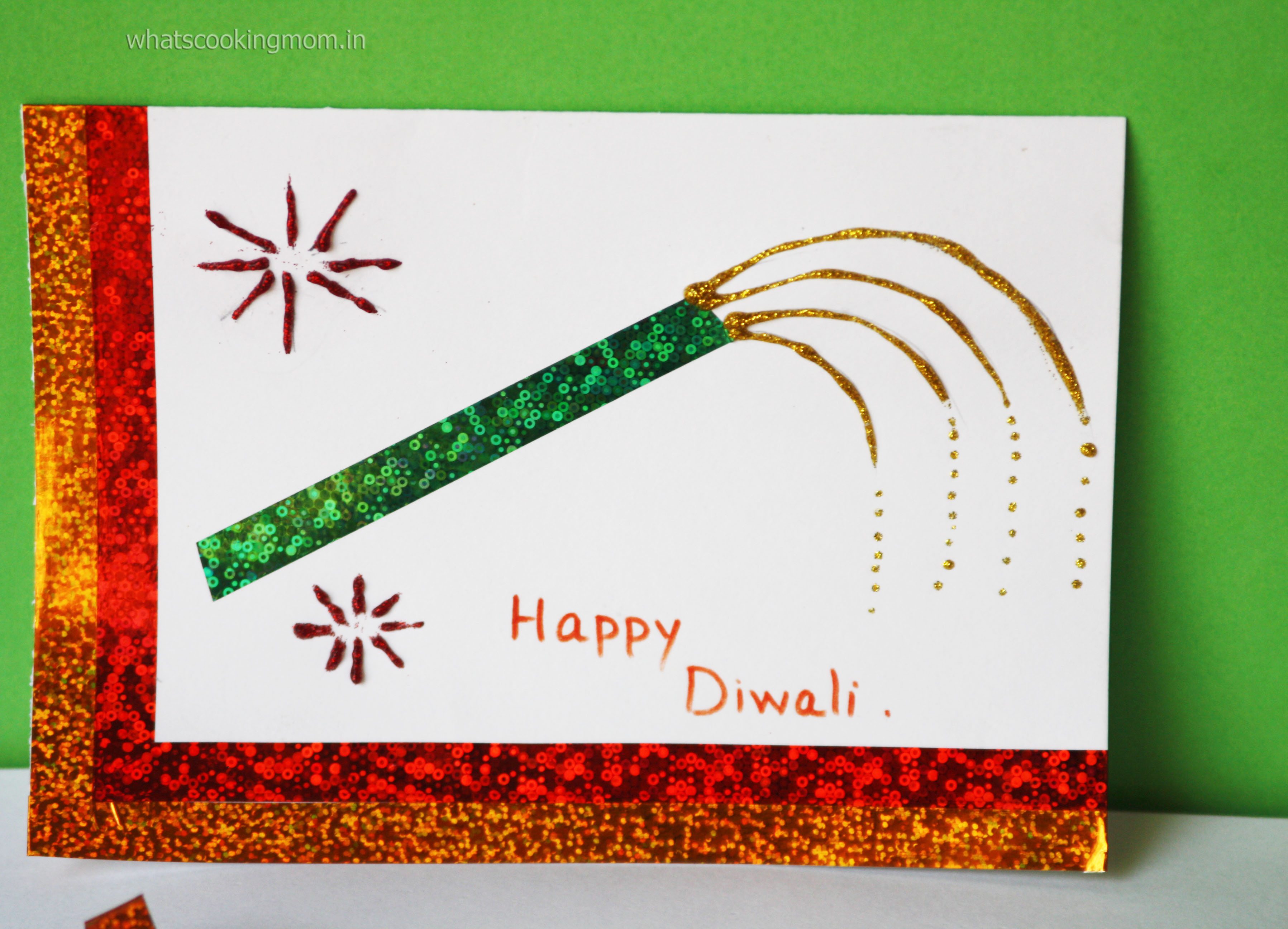 Handmade cards for Diwali - whats cooking mom
