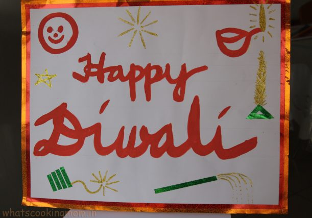 handmade cards for Diwali - easy Diwali craft