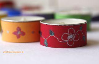 Decorative tea lights – Diwali craft