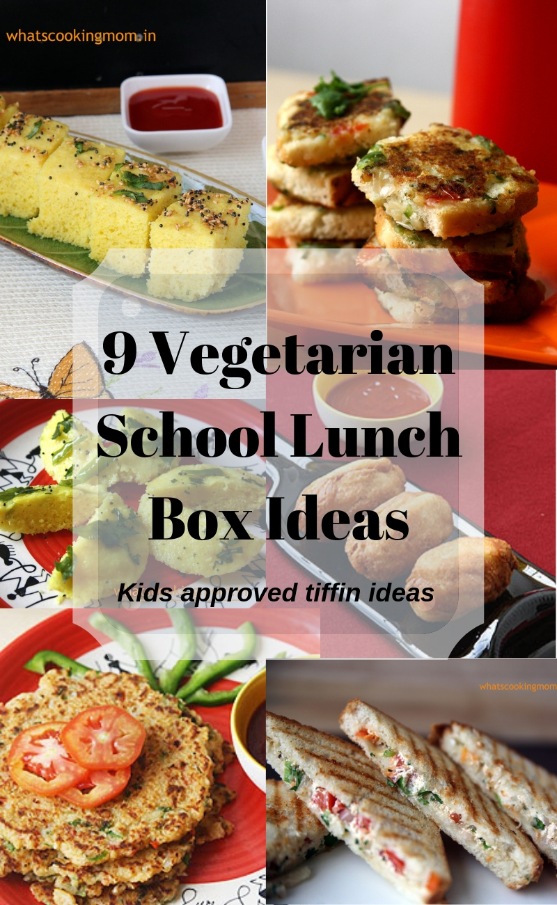 school lunch box ideas - healthy, vegetarian, kid friendly, kids tiffin ideas