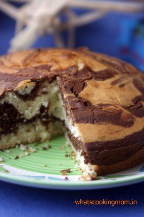 eggless marble cake 11