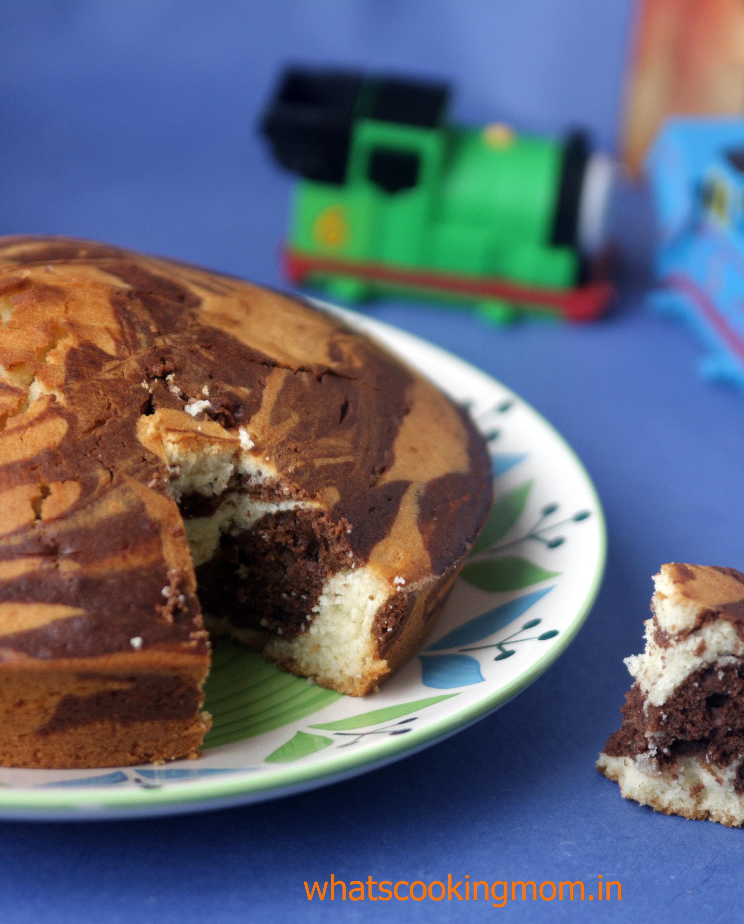 eggless marble cake 3