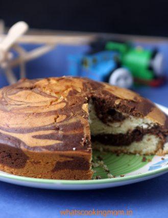 eggless marble cake 6
