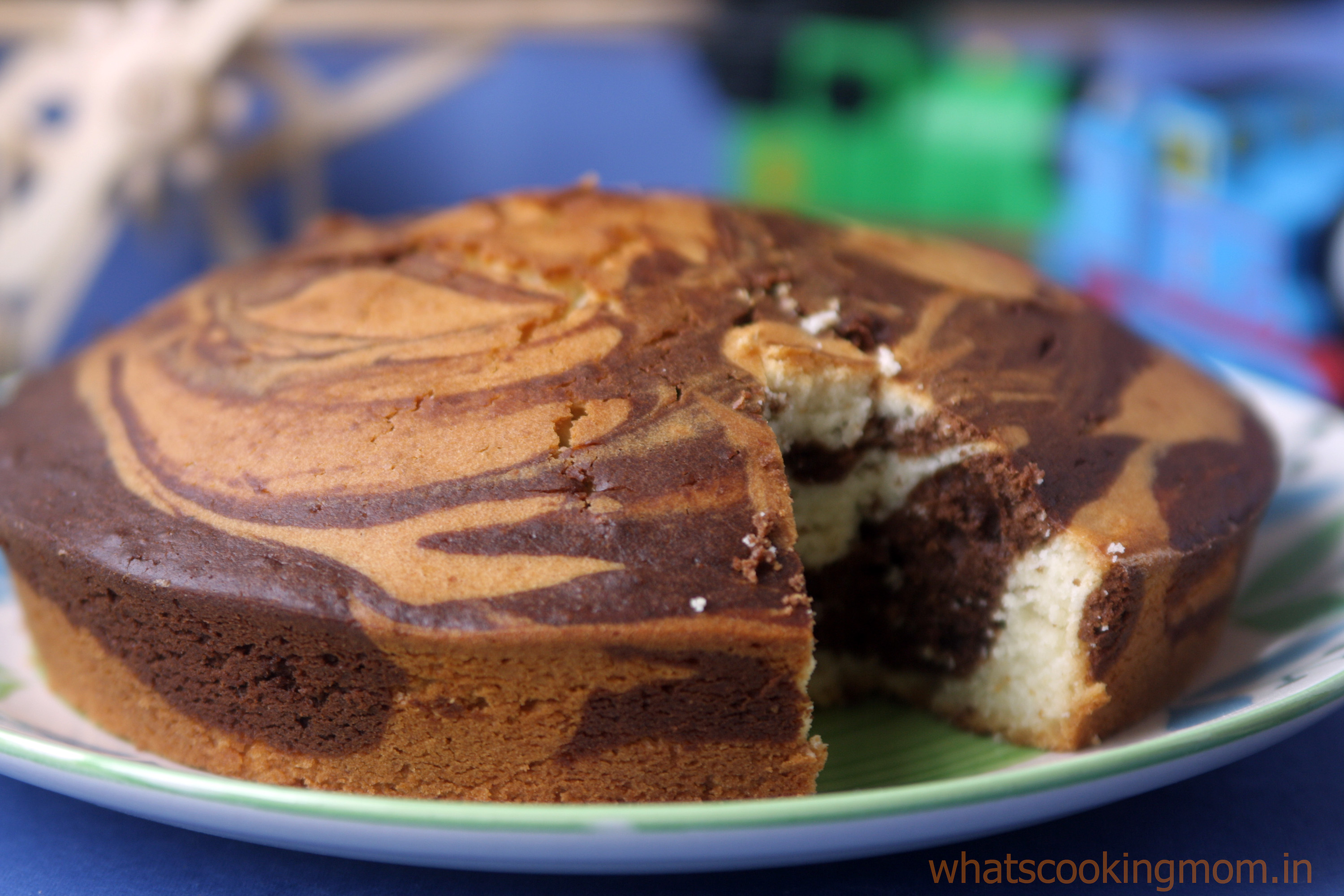 Recipe for marble cake eggless - Food baskets recipes