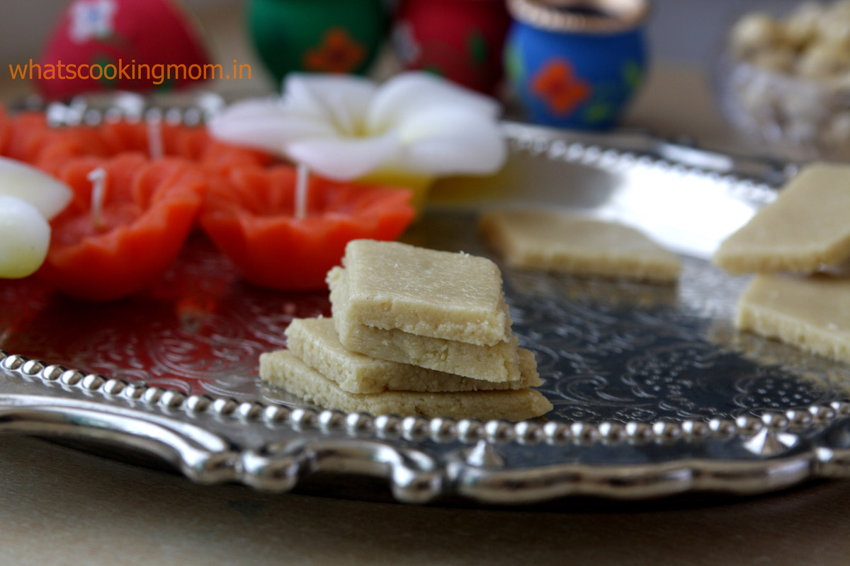 Kaju Katli - cashew nut fudge, a rich yummy, very easy to make, Indian dessert made with 3 ingredients
