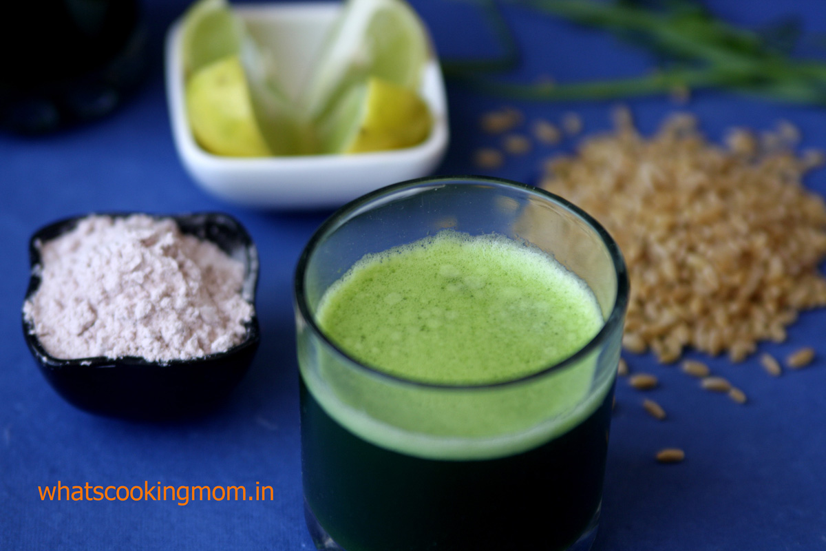 wheat grass juice - a very healthy nutritious detox drink full of antioxidants