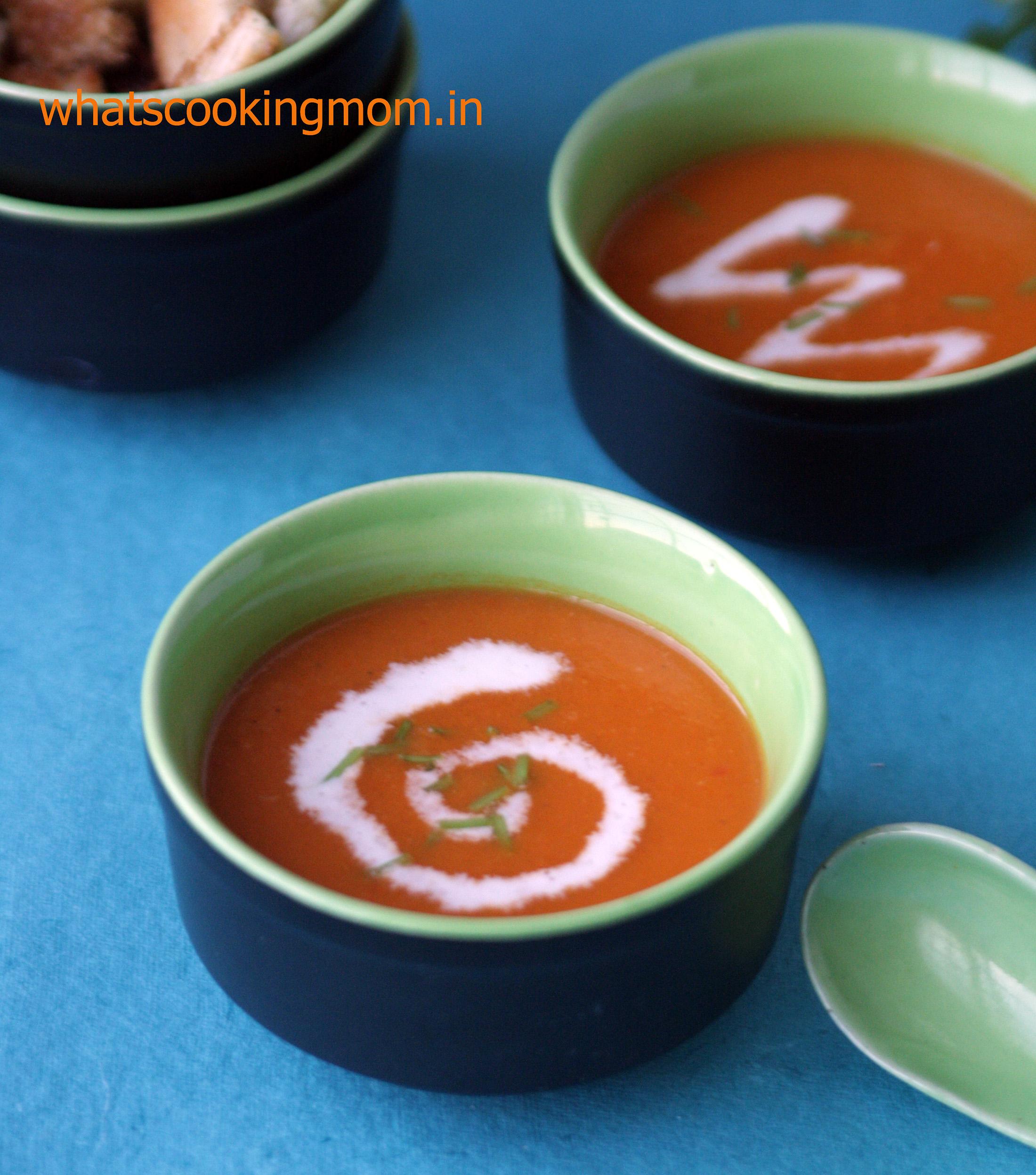 Roasted tomato soup 6