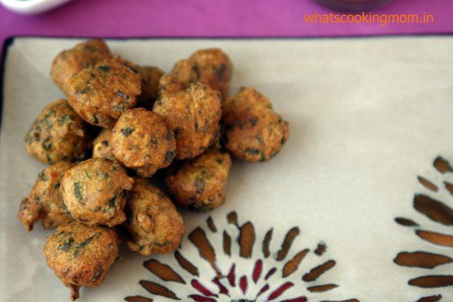 Moong Dal Pakode - Paush bada, vegetarian fried snack, traditional food, jaipur food, winters snacks