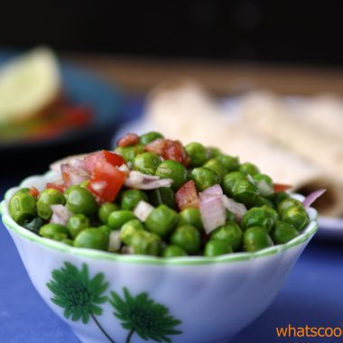 Matar ki chaat / fresh peas snack