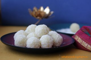 nariyal ladoo - Traditional Diwali recipes, Diwali sweets, festival sweets, Indian