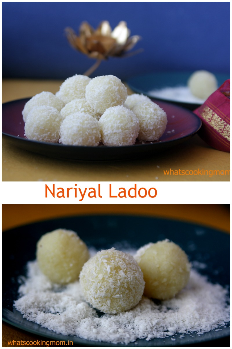 Nariyal Ladoo - Diwali recipe, festival sweets, easy to make, 3- ingredient recipe