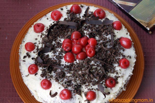 eggless black forest cake 4