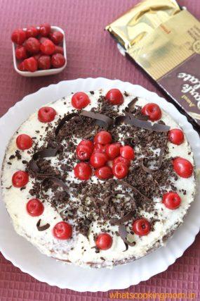 eggless black forest cake 5