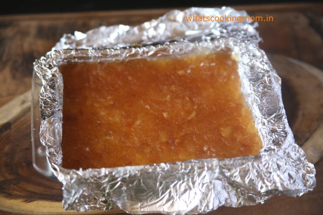 nariyal burfi with apple pie filling 2