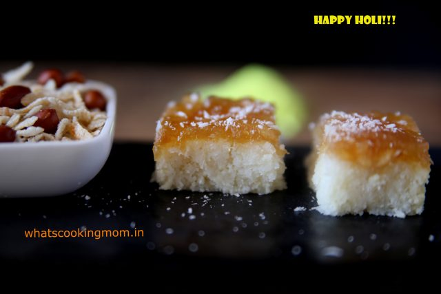 nariyal burfi with apple pie filling 4