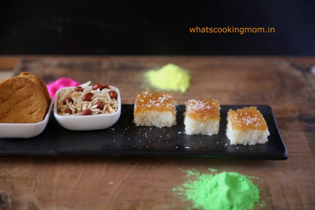 nariyal burfi with apple pie filling 5