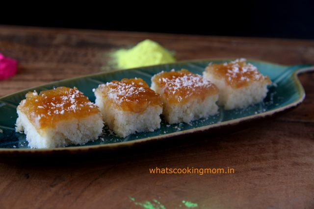 nariyal burfi with apple pie filling 6