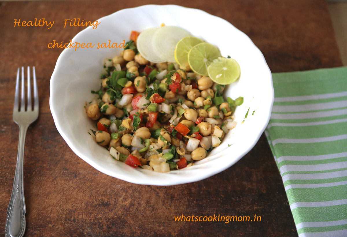 healthy chickpea sald