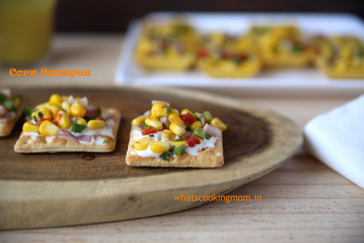 Corn canapes whats cooking mom for Canape fillings