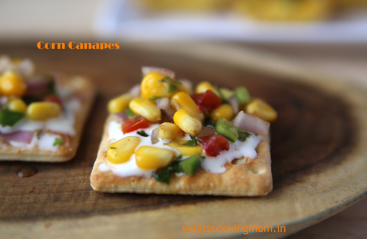 Corn canapes whats cooking mom for How to make a canape
