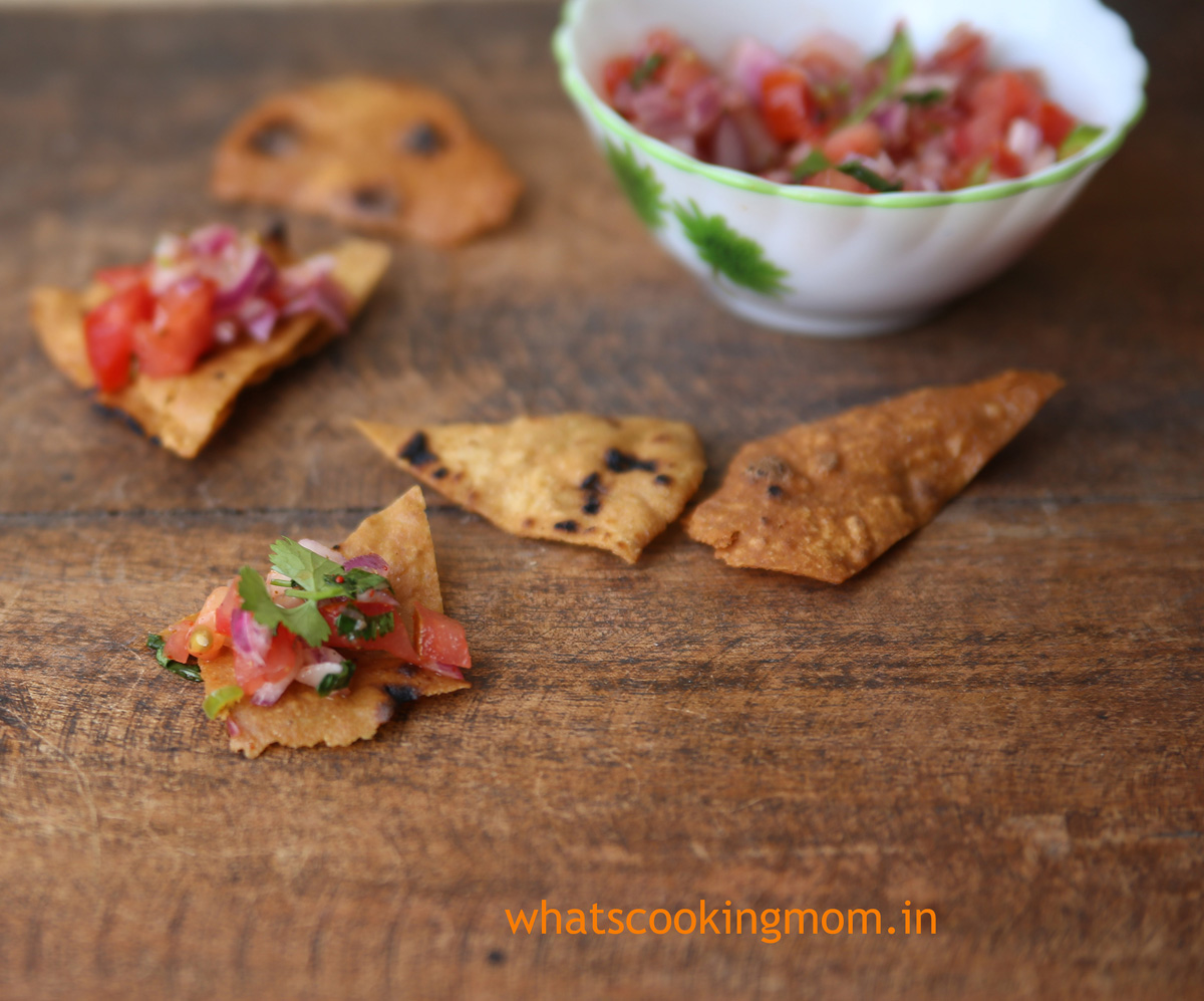 Roti Nachos - fusion food #vegetarian #snack #roti #healthychoice #kidsfavorite