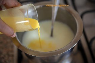 add custard