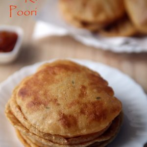Aloo ki Poori - lunch/ dinner, school lunch box, snack, vegetarian