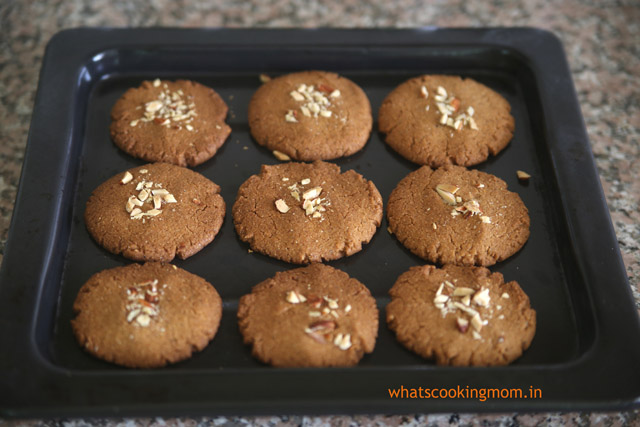 Eggless Whole Wheat Almond Cookies - whats cooking momwhats cooking ...