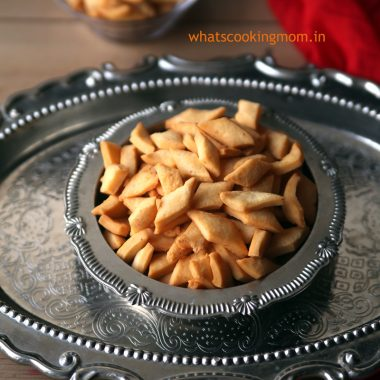 Cheese Namak Pare -Diwali snacks. Namak pare with cheese. Kids will love them.