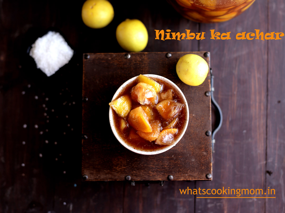 Sweet Lemon Pickle - khatta meetha nimbu achar