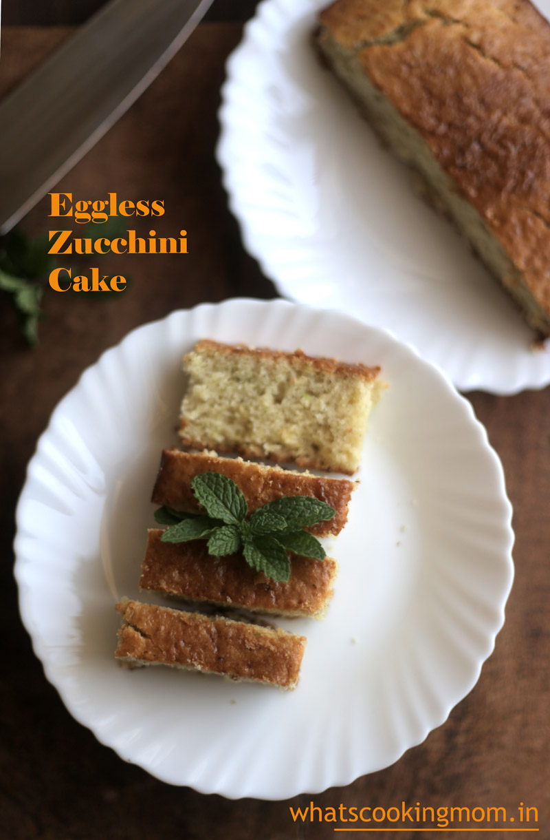 Eggless Zucchini cake - Eggless baking, healthy, cake, nuts, cinnamon flavored cake