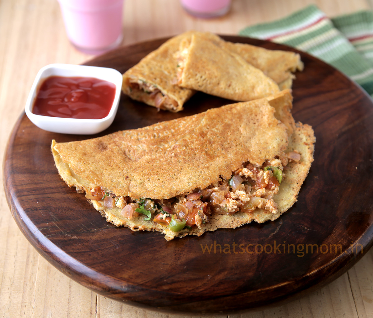 Moong Dal Cheela - lentil pancakes , healthy , vegetarian, snack, breakfast, kids tiffin box, Indian food