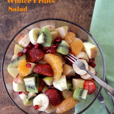 Winter Fruits Salad | Fruit Chaat