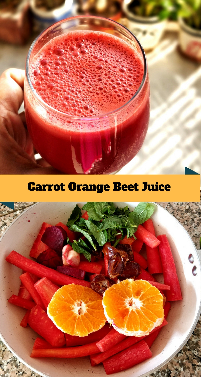 Carrot Orange Beet Juice - #healthy #drink #freshjuice #fullofvitamins