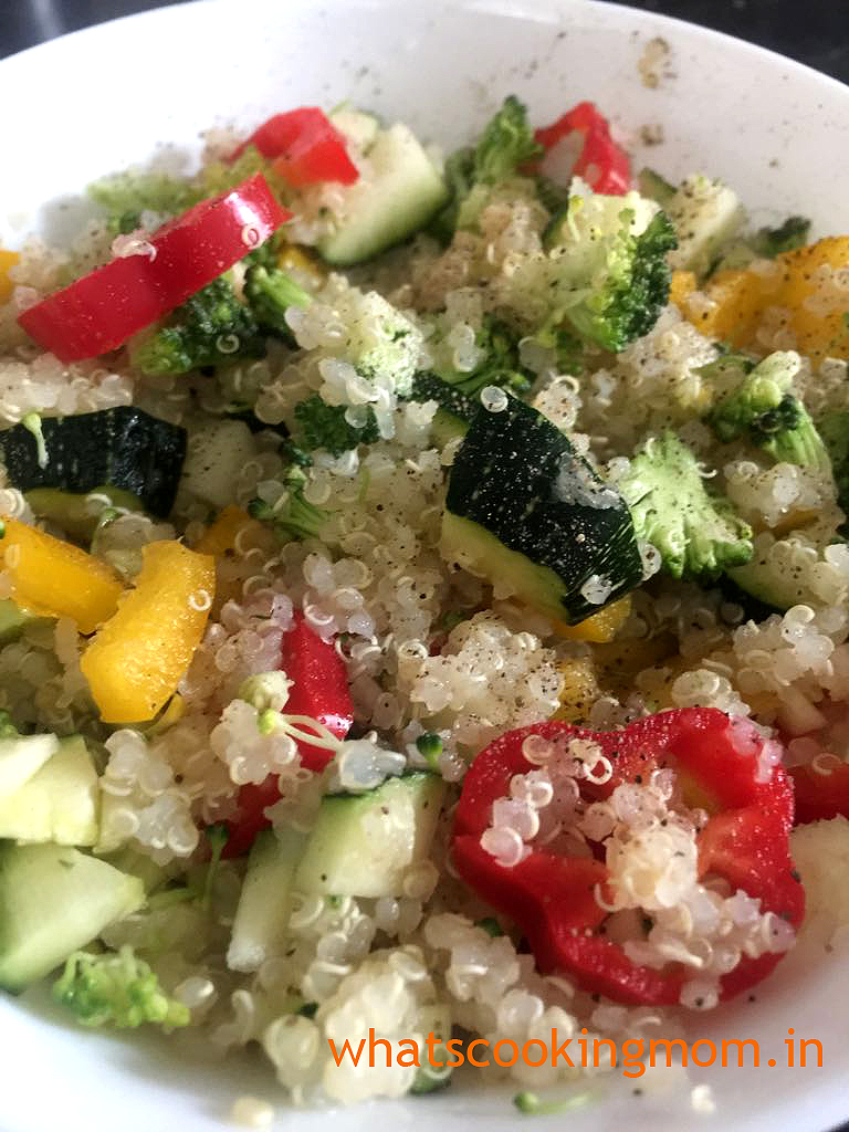 Easy quinoa salad recipe - healthy, easy to make, nutritious vegetarian salad