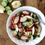 Apple Carrot Cucumber salad